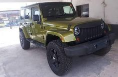 Foreign Used Jeep Wrangler 2010 Model Green