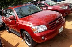 Nigeria Used Toyota Highlander 2004 Model Red