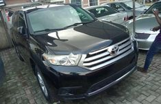 Foreign Used Toyota Highlander 2013 Model Black