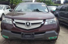 Foreign Used Acura MDX 2009 Model Red