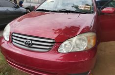 Foreign Used Toyota Corolla 2003 Model Red
