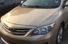 Foreign Used Toyota Corolla 2013 Model Gold