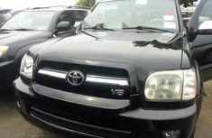 Foreign Used Toyota Sequoia 2006 Model Black