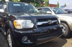 Foreign Used Toyota Sequoia 2007 Model Black