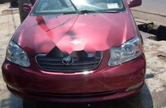 Foreign Used Toyota Corolla 2006 Model Red