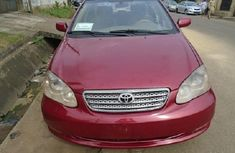 Nigeria Used Toyota Corolla 2007 Model Red