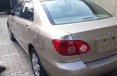 Foreign Used Toyota Corolla 2007 Model Gold for Sale