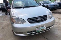 Nigeria Used Toyota Corolla 2003 Model Silver for Sale