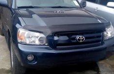 Foreign Used Toyota Highlander 2006 Model Blue