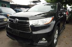 Foreign Used Toyota Highlander 2016 Model Black