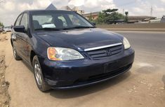 Naigeria Used Honda Civic 2002 Model Black