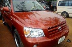 Nigeria Used Toyota Highlander 2003 Model Red