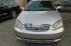 Nigeria Used Toyota Corolla 2003 Model Silver