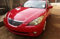 Foreign Used Toyota Solara 2006 Model Red