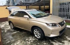 Foreign Used Lexus RX 2012 Model Gold