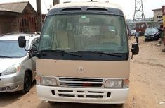 Foreign Used Toyota Coaster 2008 Model Gold