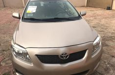 Nigeria Used Toyota Corolla V4 2009 Model Gold for Sale