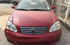 Foreign Used Toyota Corolla 2004 Model Red for Sale