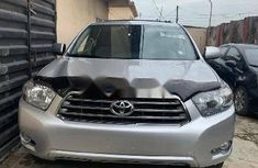 Foreign Used Toyota Highlander 2009 Model Silver