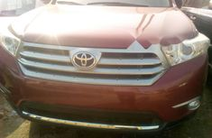Foreign Used Toyota Highlander 2013 Model Red