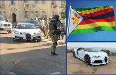 Shocking moment a ₦1.2b Bugatti Chiron entered Defense headquarter in Zimbabwe