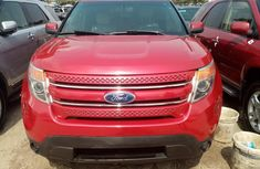 Foreign Used Ford Explorer Limited Edition 2012 Model Red