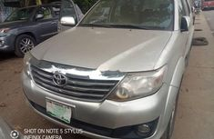 Nigeria Used Toyota Fortuner 2013 Model Silver