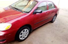 Nigeria Used Toyota Corolla 2006 Model Red for Sale