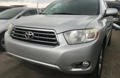 Foreign Used Toyota Highlander SUV 2010 Model Silver