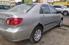 Foreign Used Toyota Corolla 2003 Model Silver