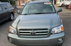 Foreign Used Toyota Highlander Jeep 2004 Model Green for Sale