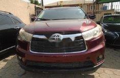 Nigeria Used Toyota Highlander 2015 Model Red