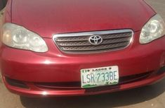 Nigeria Used Toyota Corolla 2005 Model Red