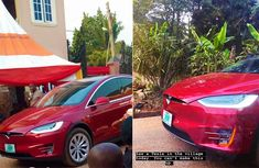 Photo of an all-electric Tesla Model S spotted in Anambra goes viral!