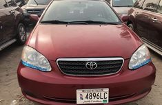 Foreign Used Toyota Corolla 2005 Model Red for Sale