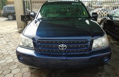 Nigeria Used Toyota Highlander 2003 Model Blue for Sale