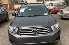Foreign Used Toyota Highlander 2010 Model Gray