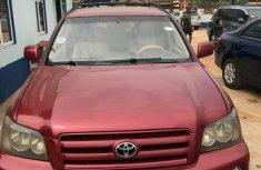 Nigeria Used Toyota Highlander 2004 Model Red