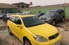 Nigeria Used Toyota Matrix 2004 Model Yellow for Sale