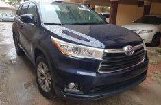 Foreign Used Toyota Highlander 2015 Model Blue for Sale