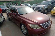Nigeria Used Lexus LS 2009 Model Red