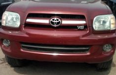 Foreign Used Toyota Sequoia 2007 Model Red