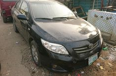 Nigeria Used Toyota Corolla 2009 Model Black for Sale