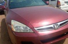 Nigeria Used Honda Accord 2007 Model Red
