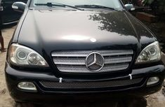 Foreign Used Mercedes Benz ML320 2004 Model Black for Sale