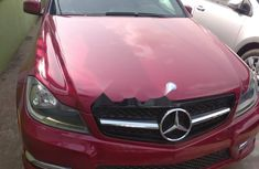 Foreign Used Mercedes-Benz C250 2013 Model Red