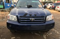 Foreign Used Toyota Highlander 2004 Model Blue