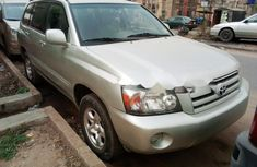 Foreign Used Toyota Highlander 2005 Model Gray