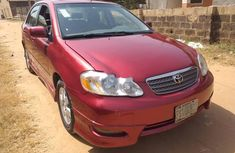 Nigeria Used Toyota Corolla 2006 Model Red