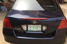Nigeria Used Honda accord  2008 Model Blue